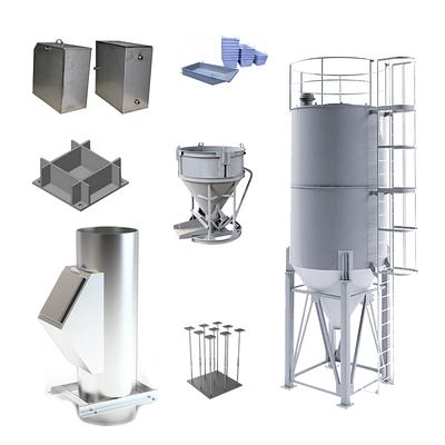Изготовление изделий из листового металла: мусоропровод, силоса, емкости, закладные детали