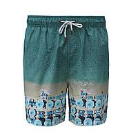 Пляжные шорты плавки IslandHase голубые принт пляжные зонты (Австралия)