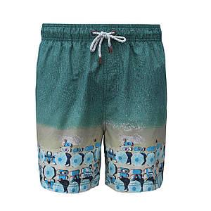 Размер S Пляжные шорты плавки IslandHaze голубые принт пляжные зонты (Австралия)