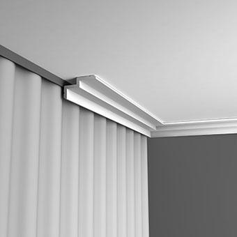 Лепнина Орак декор С390 Карниз для штор, занавеса, подсветки
