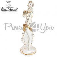 Фигурка-статуэтка фарфоровая Италия, ручная работу «Дама» Sabadin, h-50см (43402s)