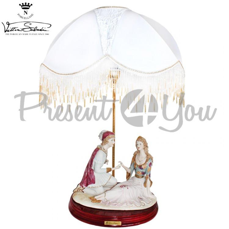 Настольная лампа Италия «Ромео и Джульетта» Sabadin,h-67 см (324Ls)