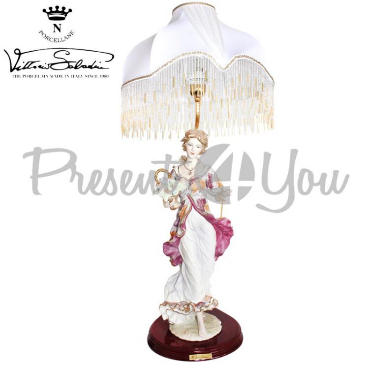 Настольная лампа Италия «Леди-Весна» Sabadin, h-82 см (3339L)