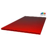 Сотовый поликарбонат ULTRAMARIN 10мм красный