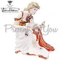 Фигурка-статуэтка фарфоровая Италия, ручная работа «Мама с ребенком» Sabadin, h-33 см (2106BRs)