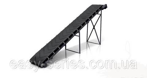 Желобчатый ленточный конвейер шириной ленты 400 мм, длиной 7 м, 1.5 кВт 380 в