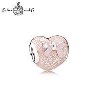 Серебряный шарм для браслета Пандора Кружевное сердце, фото 1