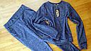 Демисезонный спортивный костюм женский ангора софт на весну весенний М-ка синий, фото 3