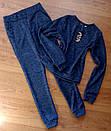 Демисезонный спортивный костюм женский ангора софт на весну весенний М-ка синий, фото 4