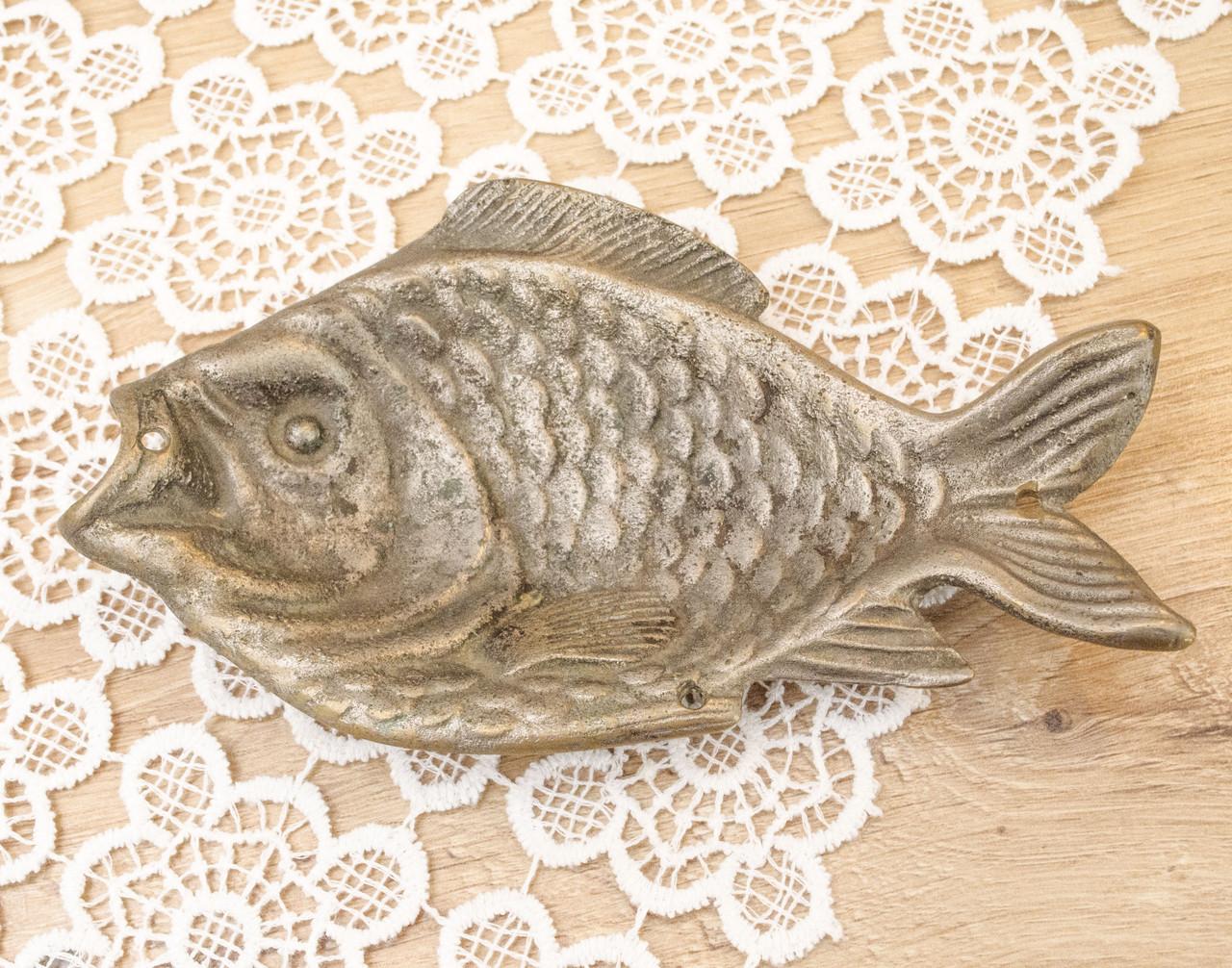 Старая декоративная бронзовая рыба, бронза, Германия