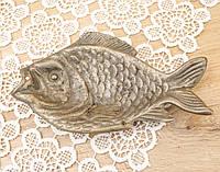Старая декоративная бронзовая рыба, бронза, Германия, фото 1