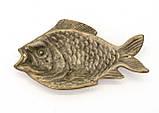 Старая декоративная бронзовая рыба, бронза, Германия, фото 2