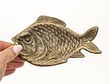Старая декоративная бронзовая рыба, бронза, Германия, фото 4