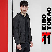 11 Kiro Tokao   Весенне-осенняя мужская ветровка 3353 темно-серая
