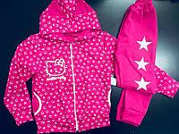 Красочный спортивный костюм для девочки с ушами и принтом звезды Китти