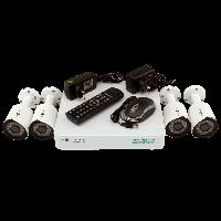 Комплект видеонаблюдения на 4 уличных камеры Green Vision GV-K-G02/04 720Р