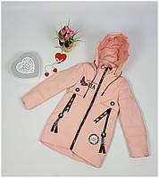 Куртка для девочки  NK 8815 весна-осень, размеры на рост от 128 до 146, фото 1