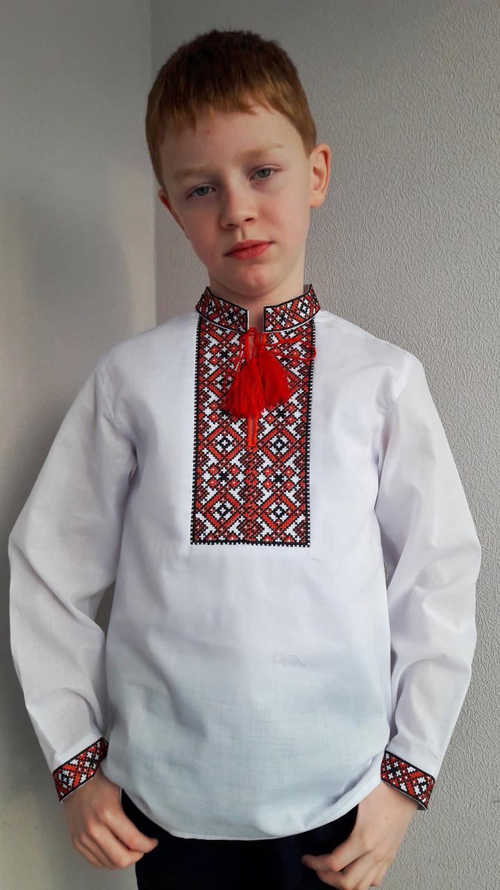 Вышиванка для мальчика красная вышивка
