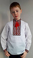 Вышиванка для мальчика красная вышивка, фото 1