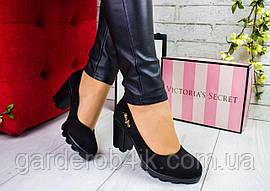 Женские туфли на каблуке, тракторная подошва