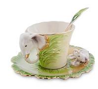 "Фарфоровая чайная пара ""Слоны"" (Pavone) FM- 74/ 3"