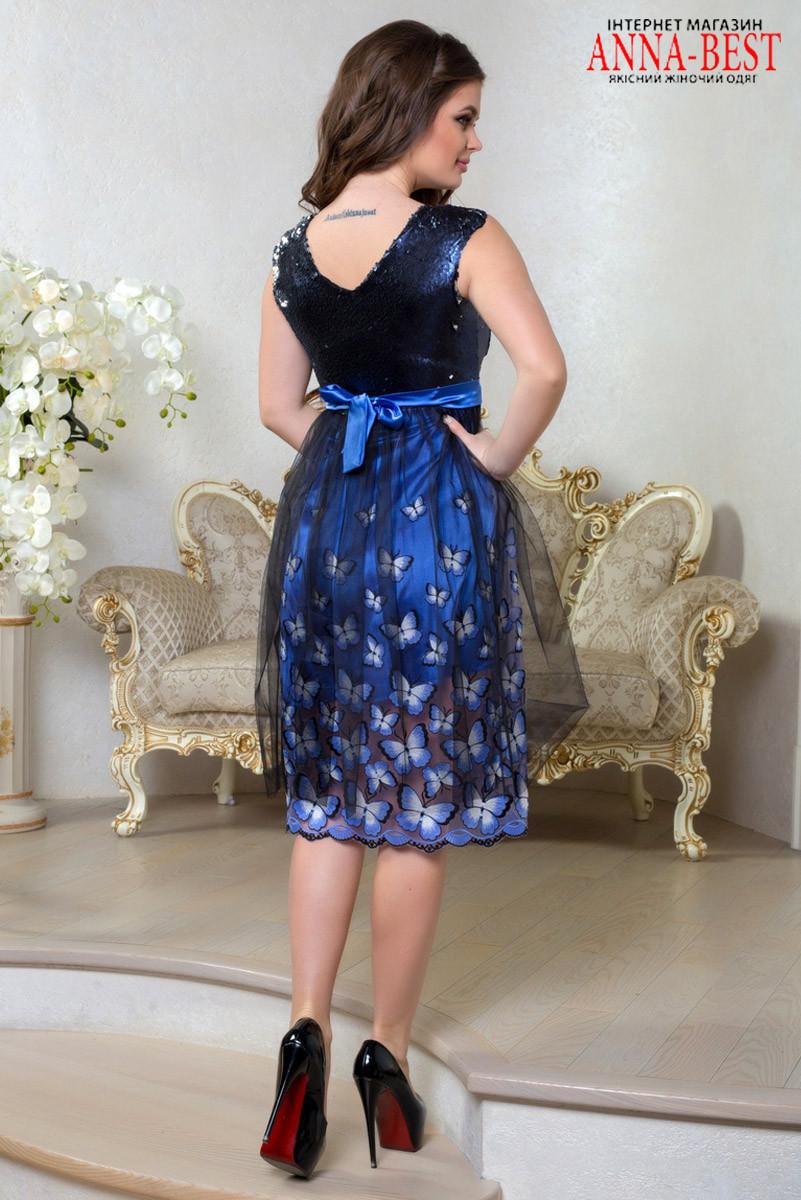 f4b45e54dba4428 ... Шикарное выпускное, вечернее платье ниже колена