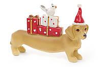 Декоративная фигурка Собака с подарками 12.5см BonaDi 823-125