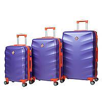 Чемодан Bonro Next набор 3 штуки фиолетовый