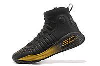 Баскетбольные кроссовки Under Armour Curry 4 black-gold, фото 1
