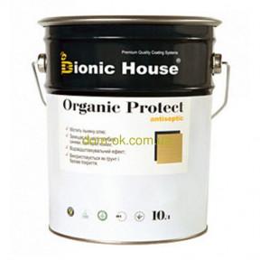 Бесцветная пропитка антисептик с льяным маслом Organic protect Bionic-House для обработки снаружи 2,8 л