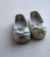 Белые туфли с бантиком для кукол Paola Reina, 32 см Handmade
