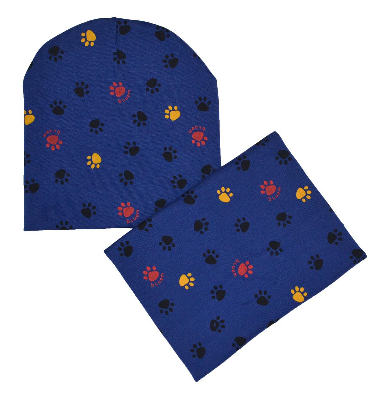 Набор шапка детская и шарф хомут