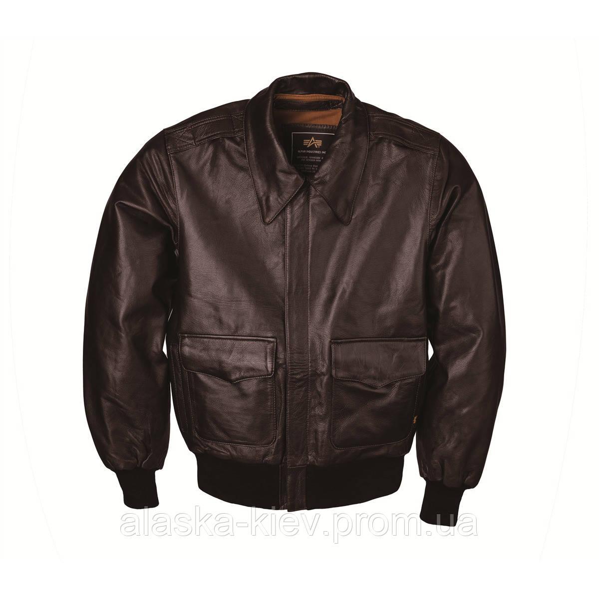 04621f2dda86 Кожаная Куртка A-2 Leather Jacket. Alpha Industries — в Категории