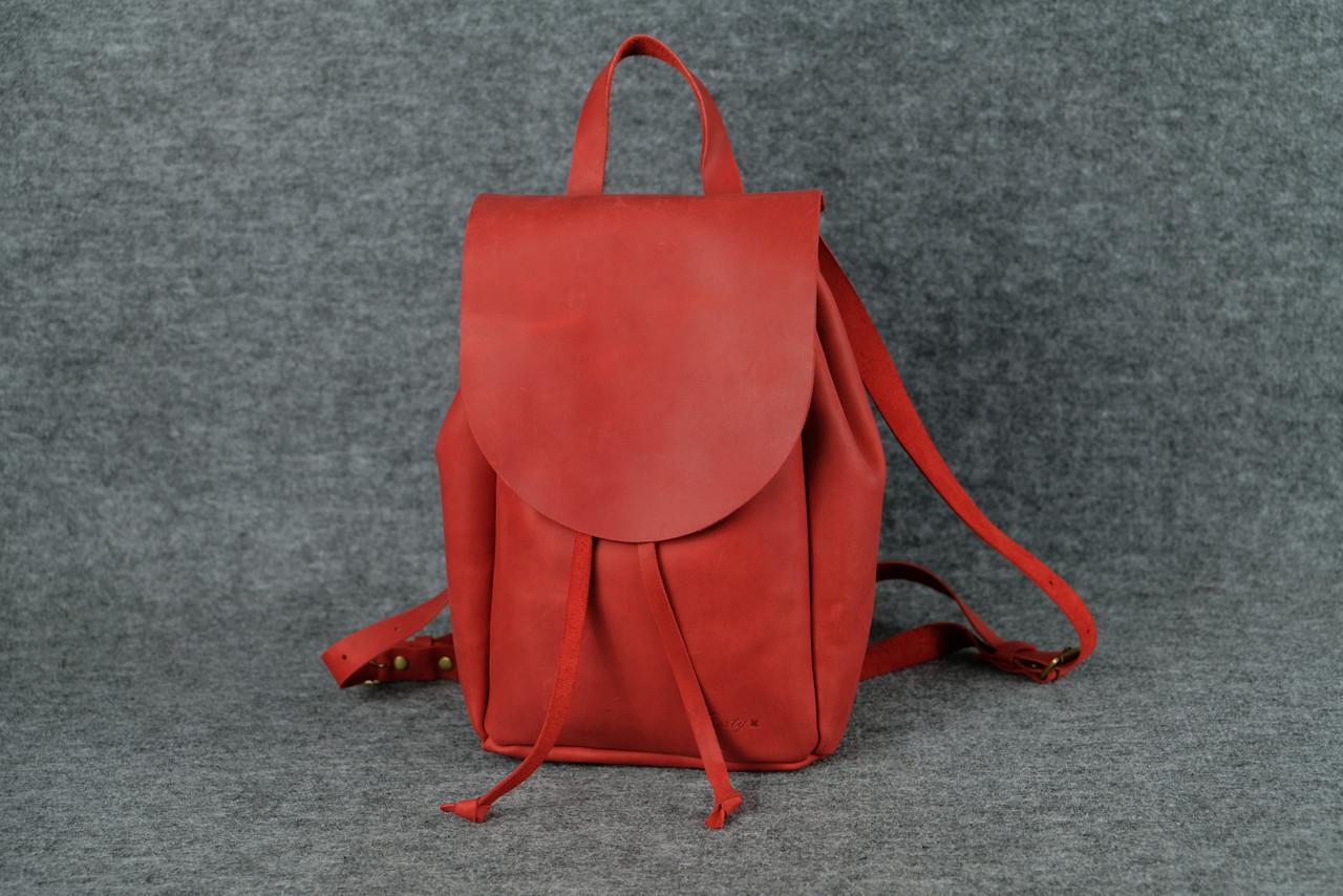 Компактный женский рюкзачок на затяжках  11912  Красный