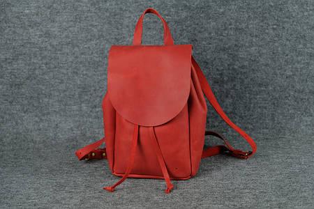 Компактный женский рюкзачок на затяжках |11912| Красный