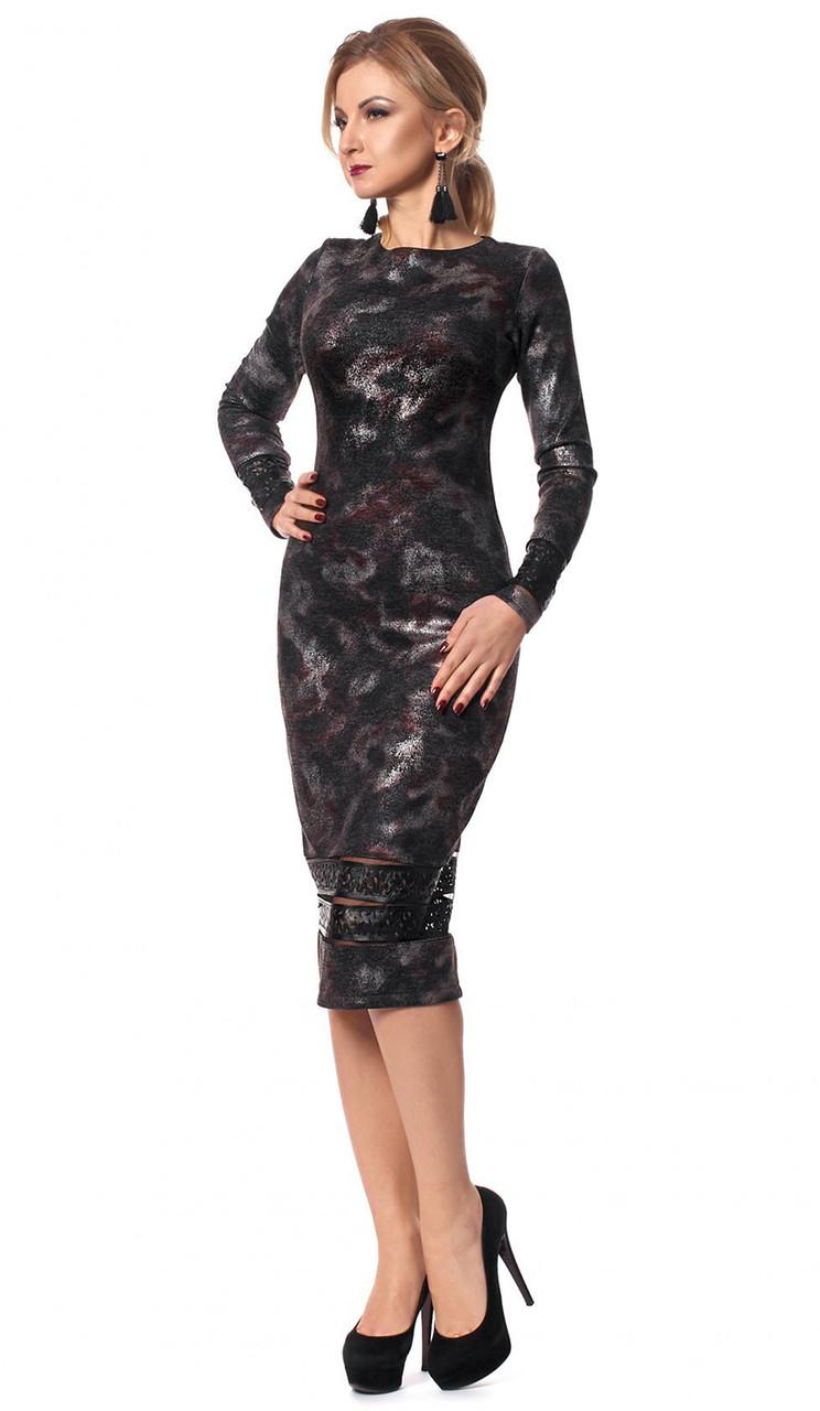 6e0a38f48ec Вечернее платье-футляр черного цвета с длинным рукавом. Модель 1031 - Irse  в Одессе