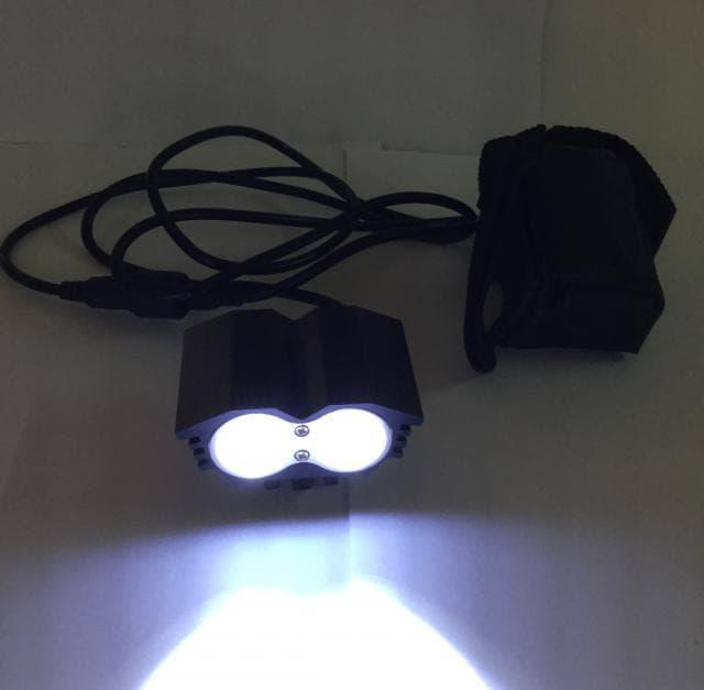 2x CREE XM-L двойной мощный фонарь на руль фара для велосипеда от USB