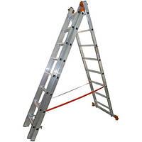Лестница универсальная трехсекционная BUDFIX 3х7 (4.12 м)