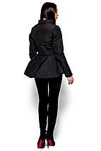 Короткая весенняя куртка с баской Karree Антони черная, фото 2