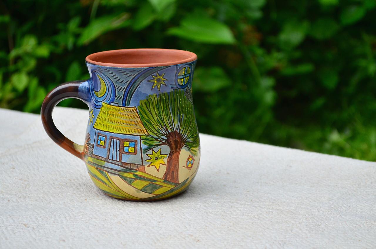 Чашки расписные, керамика
