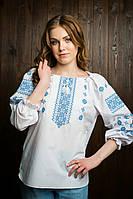 Вышиванка женская голубая вышивка ЖТ 21 , фото 1