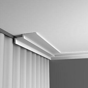Лепнина Орак декор С391 Карниз для штор, занавеса, подсветки