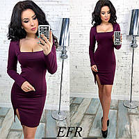 Женское платье с разрезом мод.255