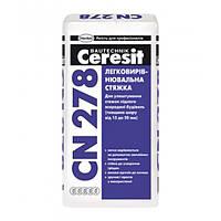 Ceresit CN-278, Стяжка цементная легковыравнивающаяся 15-50 мм, 25 кг