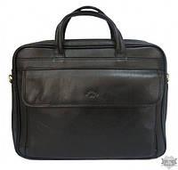 Мужская сумка для ноутбука черная кожаная Katana