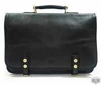 Стильный черный мужской портфель из натуральной кожи Katana