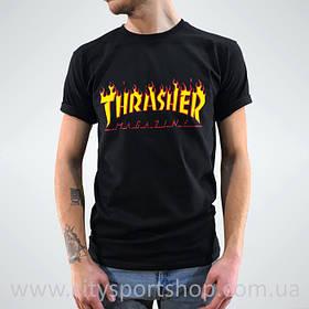 Футболка Thrasher мужская с Пикой. Все размеры | Черная