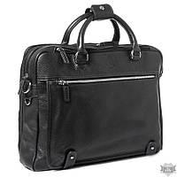 Кожаная черная сумка для ноутбука Katana