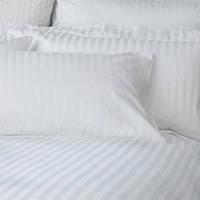 Комплект постельного белья страйп-сатин полуторный 1,5