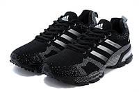 Adidas Marathon TR 15 Black   кроссовки женские, спортивные беговые (кроссовки для бега) черные (черно-белые)